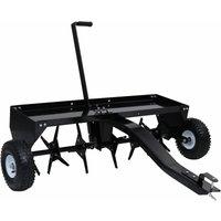 Lawn Aerator for Ride-on Mower 102 cm - Black - Vidaxl