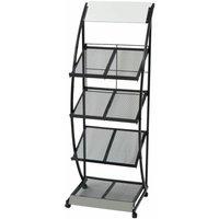 Magazine Rack 47x40x134 cm Black and White A4 - VIDAXL