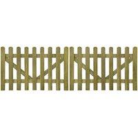 Vidaxl - Portail de clôture à piquets 2 pcs Bois imprégné 300x100 cm