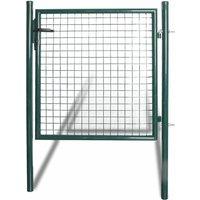 Vidaxl - Portail de clôture à porte simple Acier enduit de poudre