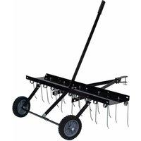 vidaXL Scarifier for Ride-on Mower 100 cm - Black