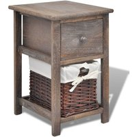 Bedside Cabinet Wood Brown - Brown - Vidaxl