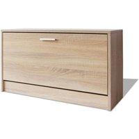Shoe Storage Bench Oak 80x24x45 cm - Brown - Vidaxl