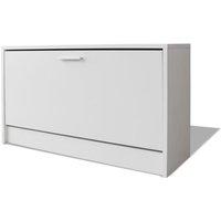 Shoe Storage Bench White 80x24x45 cm - White - Vidaxl