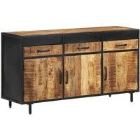 vidaXL Sideboard 140x40x75 cm Rough Mango Wood - Brown