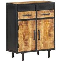 vidaXL Sideboard 60x30x75 cm Rough Mango Wood - Brown