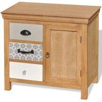 vidaXL Sideboard 65x35x60 cm Solid Wood Eucalyptus - Brown