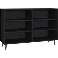 Sideboard Black 103.5x35x70 cm Chipboard - Black - Vidaxl