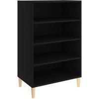 Sideboard Black 57x35x90 cm Chipboard - Black - Vidaxl
