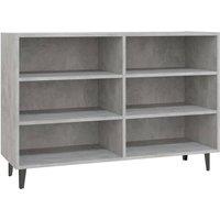 Sideboard Concrete Grey 103.5x35x70 cm Chipboard - Grey - Vidaxl