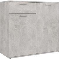 Sideboard Concrete Grey 80x36x75 cm Chipboard - Grey - Vidaxl