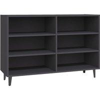 Sideboard Grey 103.5x35x70 cm Chipboard - Grey - Vidaxl
