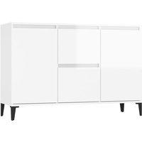 vidaXL Sideboard High Gloss White 104x35x70 cm Chipboard - White
