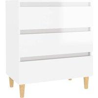 vidaXL Sideboard High Gloss White 60x35x69 cm Chipboard - White