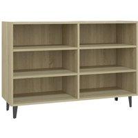 Sideboard Sonoma Oak 103.5x35x70 cm Chipboard - Brown - Vidaxl