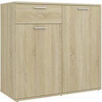 Sideboard Sonoma Oak 80x36x75 cm Chipboard - Brown - Vidaxl