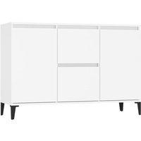 vidaXL Sideboard White 104x35x70 cm Chipboard - White