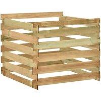 Slatted Garden Composter 100x100x80 cm Impregnated Pinewood - Green - Vidaxl