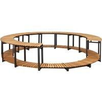 vidaXL Spa Surround 273x53 cm Solid Acacia Wood - Brown
