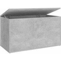 Storage Chest Concrete Grey 84x42x46 cm Chipboard - Grey - Vidaxl