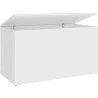 Storage Chest White 84x42x46 cm Chipboard - White - Vidaxl