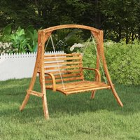 Swing Frame Solid Bent Wood with Teak Finish - Brown - Vidaxl