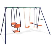 Swing Set with 5 Seats Orange - VIDAXL