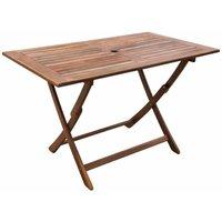 Table de jardin 120x70x75 cm Bois d'acacia massif - VIDAXL