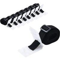 Universal Pool Cover Roller Attachments 8 pcs 1.8 m - Black - Vidaxl