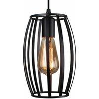 Vintage Chandelier Creative Industrial Pendant Light Cage Ceiling Lamp Retro Hanging Light Metal Iron Lamp Shade Black