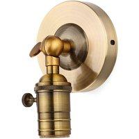 Augienb - Vintage Edison E27 Lampholder Retro Socket Base Wall Lamp (Without Bulb)