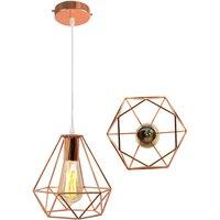 Vintage Hanging Light 20cm Diamond Chandelier Retro Industri
