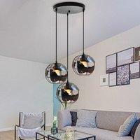Vintage Pendant Lamp Earth Chandelier Metal 3 Lamp Holders Hanging Light Creative Pendant Light for Bedroom Cafe Bar Black