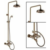 Vintage style mixer shower column