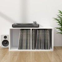 Zqyrlar - Vinyl Storage Box White 71x34x36 cm Chipboard - White