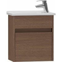 S50 Compact Vanity Unit with Basin 450mm Wide Oak 1 Tap Hole - Vitra