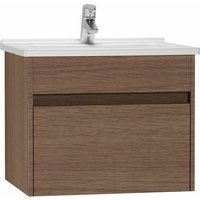 S50 Vanity Unit with Basin 600mm Wide Oak 1 Tap Hole - Vitra