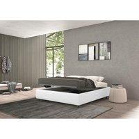 vivaldi single bed with container white, eco-leather - TALAMO ITALIA