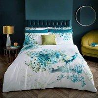 Voyage Maison Wimborne Teal Duvet Cover Set King Size, Cotton 200TC
