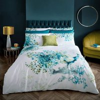 Voyage Maison Wimborne Teal Duvet Cover Set Super King, Cotton 200TC
