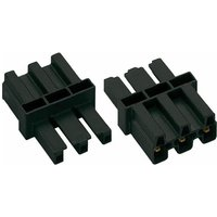 WAGO 770-603 3 Pole 10mm Intemediate Coupler 1 Plug + 1 Socket Black
