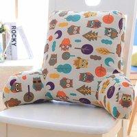 Waist cushion, office car seat relax waist sofa bed high backrest washable lumbar (Color: C, size: 53 * 35 * 18cm)