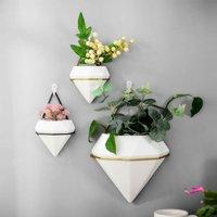 Wall Hanging Geometric Green Plants Planter Box Pot Flower