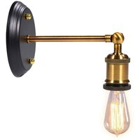 Briday - Wall lamp, wall lights, wall bathtubs, vintage industrial light lamp retro style E27 base (bulb not included)