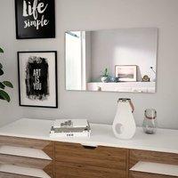 Zqyrlar - Wall Mirror 60x40 cm Rectangular Glass - Silver
