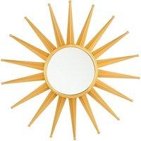 Home Round Gold Wall Mirror Sunburst Star Bathroom Entryway Living Room Perelli