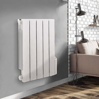 Wall Mounted Electric Radiator Thermostatic Heater Digital Oil Filled Radiator 24/7 Timer, 5 Heating Modes, LCD Display 577x461mm 900W