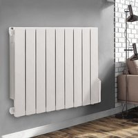 Wall Mounted Electric Radiator Thermostatic Heater Digital Oil Filled Radiator 24/7 Timer, 5 Heating Modes, LCD Display 577x778mm 1500W