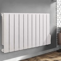 Wall Mounted Electric Radiator Thermostatic Heater Digital Oil Filled Radiator 24/7 Timer, 5 Heating Modes, LCD Display 577x937mm 1800W