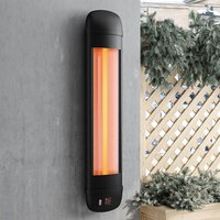 Wall Mounted Patio Heater Electric Halogen Tube Heat Warmer with Remote Control